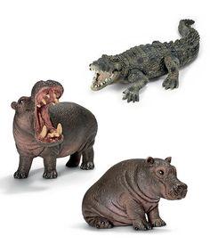 Love this River Wildlife Figurine Set by Schleich on #zulily! #zulilyfinds