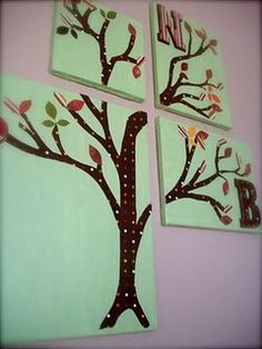 play room art: {diy} blank canvas, paint, scrapbook papers, wooden letter, mod podge.  really, so simple.