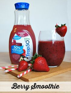 Trop50 Summertime Berry Smoothie Recipe! #ad #girlsnightin #SweepsEntry