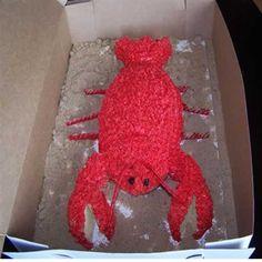 Lobster Cake made using Football Pan #joescrabshack