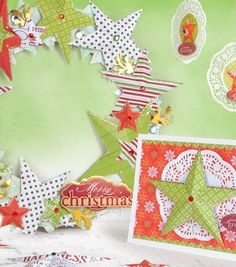 Make fun Christmas decorations with paper! Create a pretty paper wreath, ornament or holiday card! #fabulouslyfestive