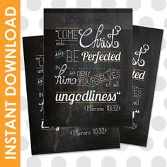 Come Unto Christ Chalk Board Printable. 2014 Mutual / Youth Theme. #LDS
