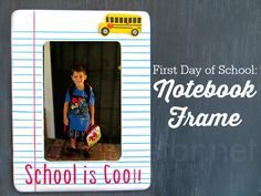 Back to School Notebook Frame #create2educate @Michaelsstores #MichaelsMakers
