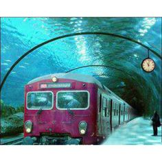 Undersea train in Venice