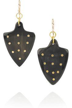 Ashley Pittman|Moyo embellished horn earrings