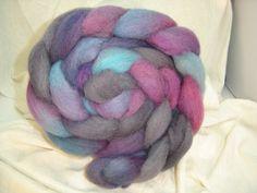 Alpaca and wool batt from TheCritterRanch.
