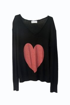 Wildfox Couture| Queen of Hearts V-Neck Sweater
