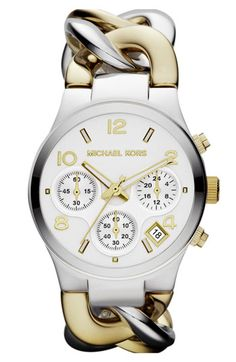 Michael Kors Chain Bracelet Chronograph Watch, 38mm available at Nordstrom, denne er super fin!!!