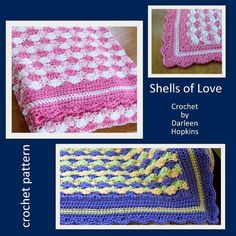 Shells of Love Crocheted Baby Blanket from DarleenHopkins | Check out patterns on Craftsy!