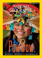 FREE back issues of National Geographic for kids to read online...PLUS a very extensive teacher's guide with printables for each issue.