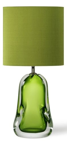 Table Lamps, Designer Modern Green Art Glass Table Lamp, so beautiful, one of over 3,000 limited production interior design inspirations inc, furniture, lighting, mirrors, tabletop accents and gift ideas to enjoy repin and share at InStyle Decor Beverly Hills Hollywood Luxury Home Decor enjoy & happy pinning