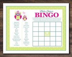 Instant Download Owl Baby Shower Bingo Cards by Studio20Designs, $1.50