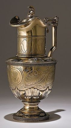 Tiffany Sterling Ewer Presented to Abraham Lincoln on His First Inauguration from His Washington Friends