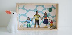 family portraits, art, famili portrait, diy familyportraitcollag, filho feliz, portrait collag, pai criativo, kid, criativo filho