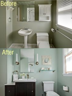 Family bathroom before and after.