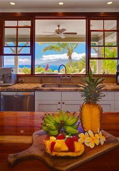 Great kitchen, great view and the perfect snack!