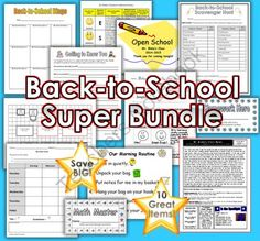 Back-to-School Giveaway!!!! Enter for your chance to win 1 of 3.  Back-to-School Bundle: Ten Great Products to Help You Start Your Year Off Right! (60 pages) from Geaux Teach Online Store on TeachersNotebook.com (Ends on on 8-24-2014)  It's time for another giveaway to celebrate the start of a new school year! We at Geaux Teach Online are giving away 3 of our awesome Back-to-School Bundles! This bundle contains 10 of our great products that will help you get your year off to a great ...