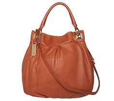 Emma & Sophia Pebble Leather Satchel with Removable Strap #OCRFSuperSaturday