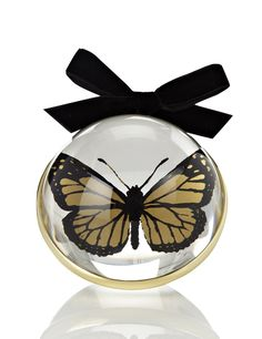 Butterfly Filled Paperweight Style Christmas Room Decoration