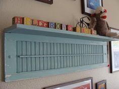 thoughts, old shutters, fleas, upcycle shutters, shutter shelf