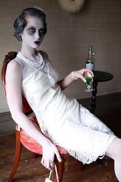 Ghostly vintage glamour