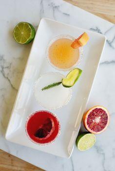 Mini Margarita Flights: Fun idea for parties.