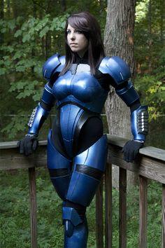 Commander Shepard.  Fem Shep from Mass Effect. Great cosplay