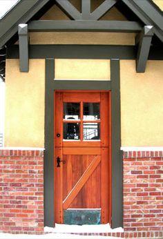Dutch door with Z Brace and copper kickplate