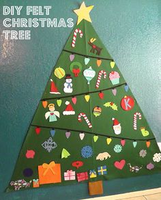 DIY Felt Christmas Tree for toddlers, kids, baby