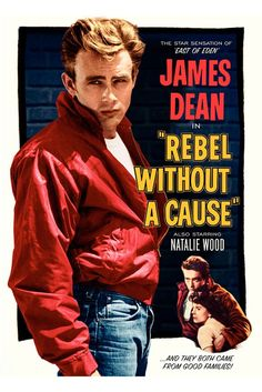 James Dean dans la Fureur de vivre (1955) #james #dean #acteur #culte #legende #annees50 #mode #homme #blouson #rouge #jeans #50s #mens #fashion #movies #red #jacket