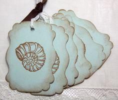 Vintage beach tags