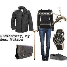 """John Watson (BBC's Sherlock)"" by favourite-fictional-fashions on Polyvore"