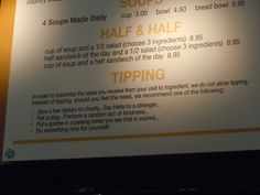 Love these tipping tips I saw in Colorado.