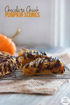 Chocolate Chunk Pumpkin Scones #LexisCleanKitchen