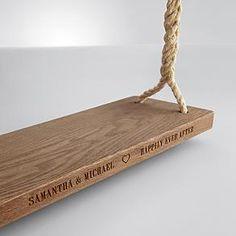 personalized tree swing   Good Idea!