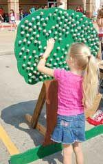 garden fete, summer fair, fall festiv, lollipop tree, fete game