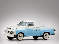 Classic Car: 1958 Studebaker Transtar Deluxe Pickup Truck. Beautiful, bot originally didn't come with the wide lip white walls.
