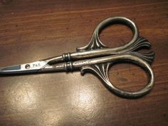 Antique Art Nouveau Style Scissors - marked F & B