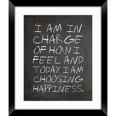 Choose Happiness - Framed Wall Art.
