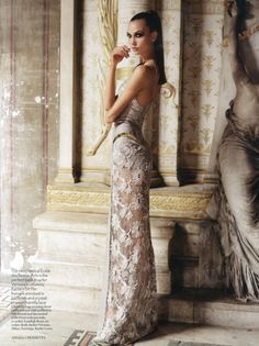 """""""An American in Paris"""": Karlie Kloss by Angelo Pennetta for Vogue UK May 2012"""