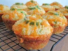 Jalapeno Cheddar Parmesan Cornbread Muffins - Damn Delicious