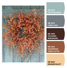 I found this photo on Pinterest, and used the Chip It tool from Sherwin Williams to get the beautiful, autumnal color palette.