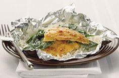 Healthy Fish Hobo Dinner.
