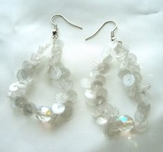Recycled plastic bottle earrings