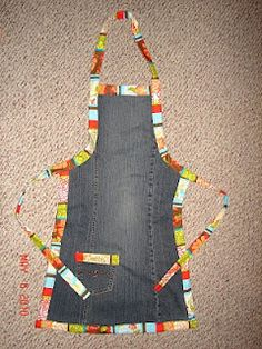 Old Jeans apron