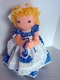 Cloth Rag Doll PDF Pattern Little Pammy 16 inch by PeekabooPorch