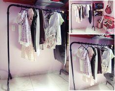 Criativo e simples: Como fazer: arara de roupas  #arara #DIY #pipes