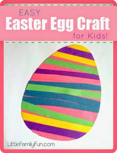 Fun and easy Easter Egg Craft for Kids! Just grab some paper and glue!