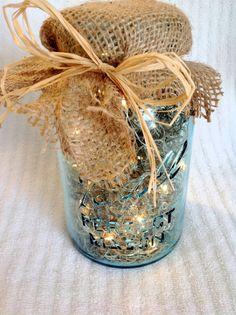Vintage Mason Jar Firefly Lantern / Wedding Centerpiece / Night Light
