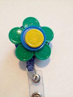 Retractable Badge Clip Medication Vial by ExtraBaggageBoutique, $5.00 badg clip, retract badg, badg holder